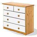 Verona White 3plus2 Drawer Chest