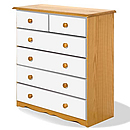 Verona White 4plus2 Drawer Chest