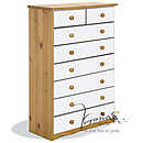 Verona White 6plus2 Drawer Chest
