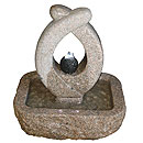 Stone and Water Fleurero Self Contained Granite Water Feature