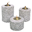 Stone and Water Oil lamps, column set of 3