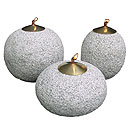 Stone and Water Oil lamps, oval set of 3