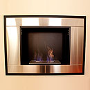 The Naked Flame Art Deco Black and Stainless Steel