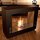 The Naked Flame Quadrant Free Standing Bio Ethanol Fire