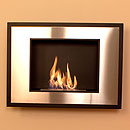The Naked Flame Art Modern Black and Stainless