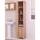 Mobel Oak Open Bathroom Unit Tall