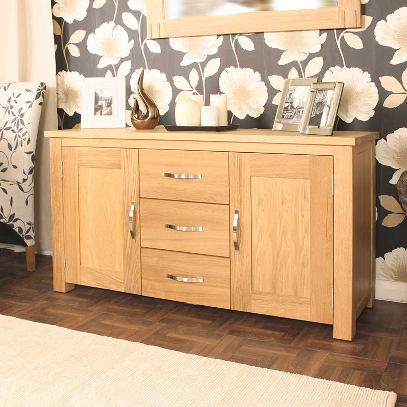 Aston Oak Large Sideboard