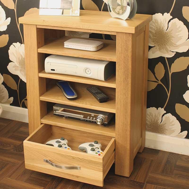 Aston Oak Home Entertainment Cabinet