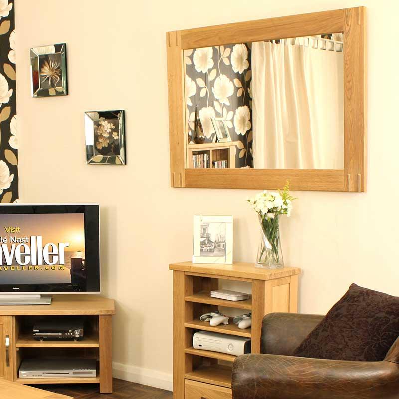 Aston Oak Wall Mirror