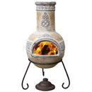 Gardeco Azteca Clay Chimenea Medium