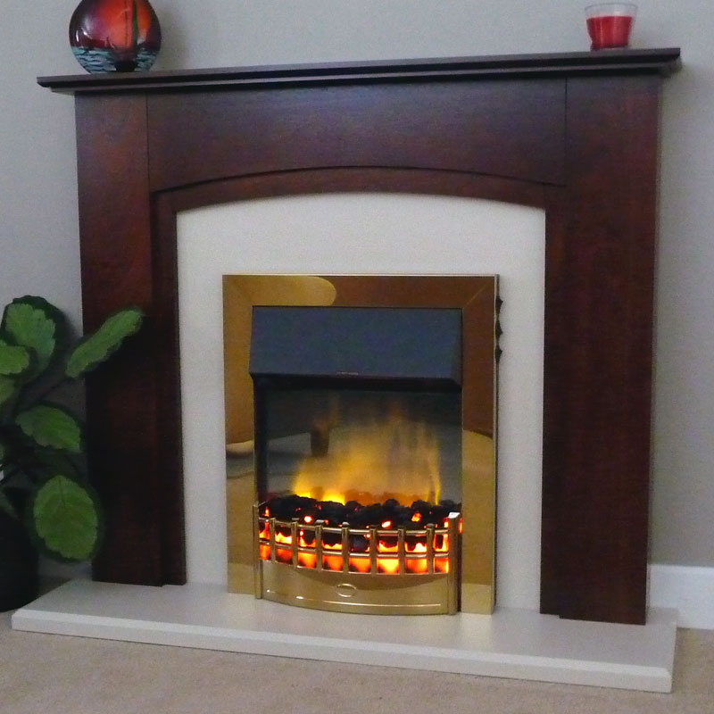 Delta Byley Electric Fireplace Suite