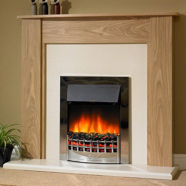 Delta Heswall Electric Fireplace Suite