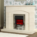 Orial Crete Limestone Fireplace
