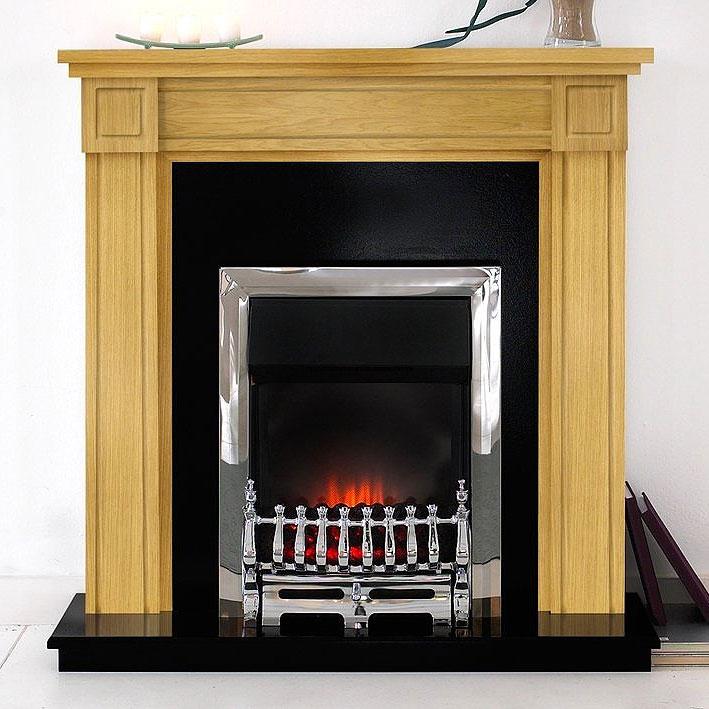 Costa Carlow Oak Electric Fireplace Suite