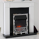 Costa Carlow White Electric Fireplace Suite