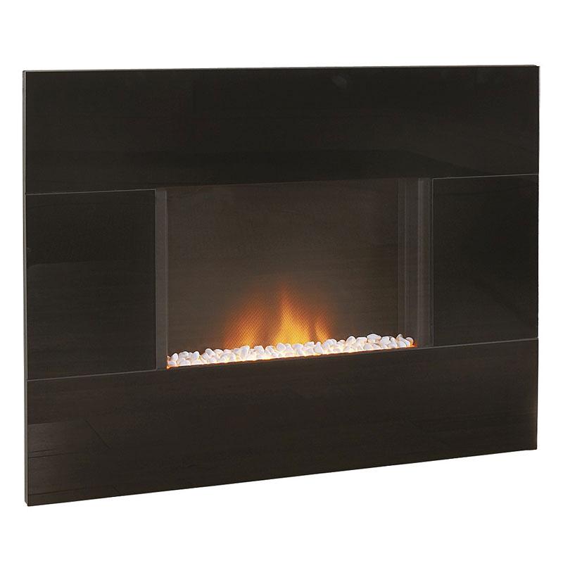 Costa Epic Black Glass Electric Fire