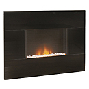 Costa Epic Black Glass Electric Fire