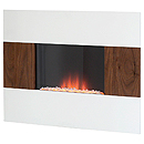 Costa Epic White and Walnut Electric Fire