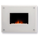 Costa Epic White Glass Electric Fire