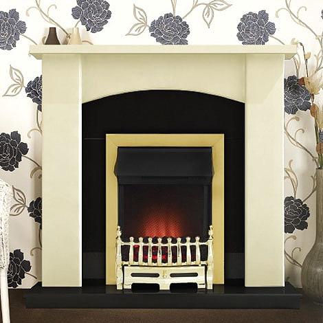 Costa Lucan Electric Fireplace Suite