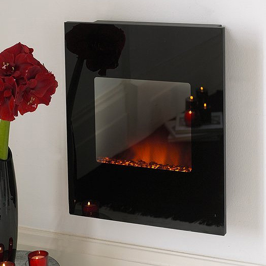 Costa Shimmer Black Glass Electric Fire