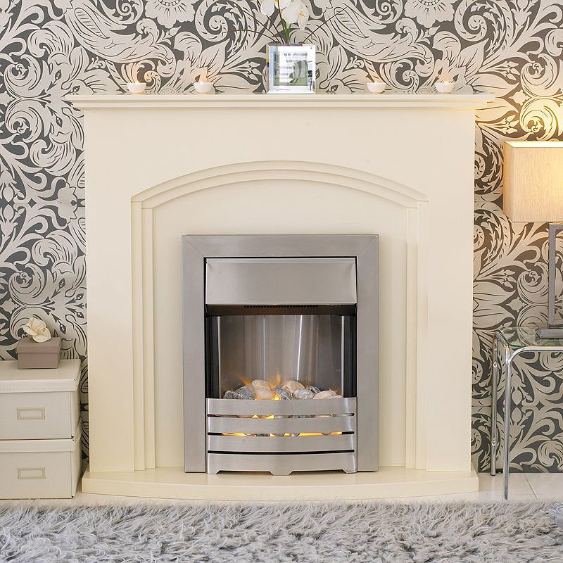 Costa Tempest Ivory Electric Fireplace Suite