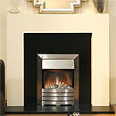Costa Tulare Ivory Electric Fireplace Suite