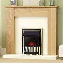 Costa Alliance Ivory Back and Brass  Effect Fire
